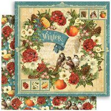 "Graphic 45 Seasons - WINTER - 12x12"" Scrapbooking Paper"