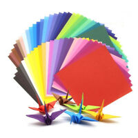 200pc Square Double Sided Origami Folding Lucky Wish Paper Crane Colorful Sheets