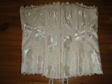 Frederick's of Hollywood Bridal Ivory Satin Damask Lace Corset Size 36
