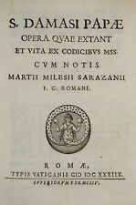 1638 First editon Crucial Religious Work  Spread of Christianity Pope Damasus