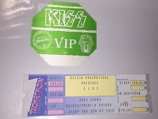 Kiss lot unused concert ticket & backstage Pass HITS Paul Stanley Gene Simmons