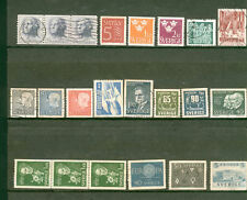 LOT 22 TIMBRES OBLITERES ANCIENS SUEDE 1960's
