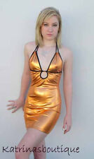 Sexy Copper Metal Keyhole Halter Club/Party Dress/Stripper/Made in usa