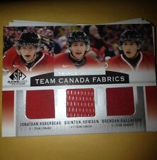 2013 Sp Game Used Team Canada Triple Jersey Huberdeau Howden Gallagher Wow !!