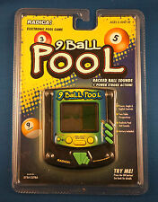 BILLIARDS POOL RADICA ELECTRONIC HANDHELD VIDEO LCD GAME HALL TABLE BALLS CUE