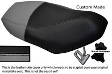 GREY & BLACK CUSTOM FITS PIAGGIO FLY 50 100 125 UP TO 2011 LEATHER SEAT COVER
