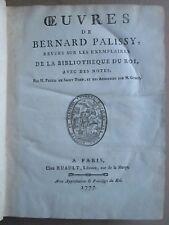 OEUVRES DE BERNARD PALISSY, 1777 (émaux, terres, pierres, alchimie, glaces).