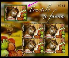 2014 Squirrel/Eichhörnchen,Ha zelnuts/Haselnüssen,Anima l/fruit,Romania,6861B/Mnh