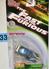 RACING CHAMPIONS THE FAST AND THE FURIOUS 1993 MAZDA RX-7 - STREET RACER W+