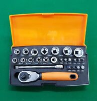 "BAHCO SL25 25 Piece 1/4"" Hex Sockets + Mini 1/4"" Ratchet & Screwdriver bit set"