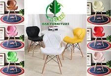 MOF Eiffel Style Dining Chairs Wood Legs & Comfortable Padded Seat UK STOCK!!!!