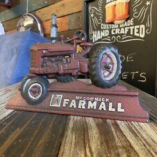 Farmall Cast Iron Door Stop, Red Tractor McOrmick