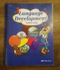 Abeka Preschool K4 Language Development Teacher Guide