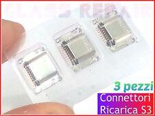 3 pezzi CONNETTORI CONNECTORS RICARICA M. USB SAMSUNG GALAXY S3 I9300 I9301I Neo