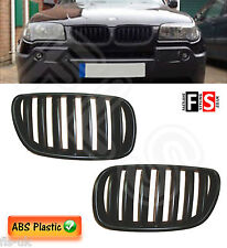 BMW E83 X3 LCI JULY 2006 - 2010 FACELIFT KIDNEY GRILLES - ABS - MATTE BLACK