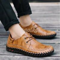 Men's Casual Leather Shoes Lace Up Breathable Formal Business Comfort Shoes Sz