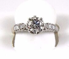 1.60Ct SI1 Natural Round Diamond Solitaire Engagement Ring 18k White Gold