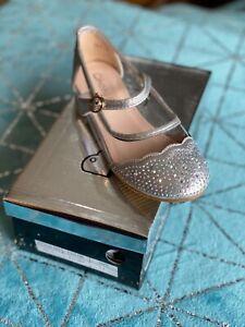 Kelsi girls silver glitter pumps shoes