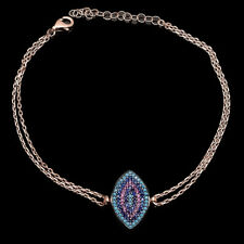 Turquoise Ruby Sapphire Charm Pendant Bracelet 925 Sterling Silver Fine Jewelry