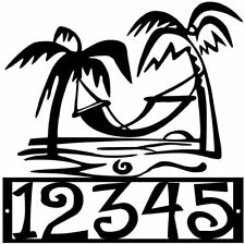 House Number Plaque, Metal Sign, Condo, Address Sign, Beach #20