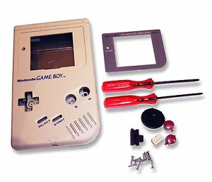 Gameboy Game Boy DMG-01 Original Console Grey Shell Housing w Screen & Tools UK