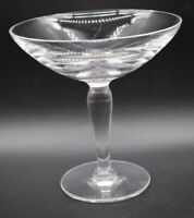 "Hawkes American Brilliant Period ABP Cut Crystal 6 1/4"" Footed Compote"