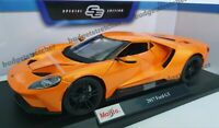 MAISTO 1:18 Scale - 2017 Ford GT - Metallic Orange - Diecast Model Car
