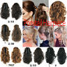 Gray  High Temperature Fiber Curly Ponytail Hairpiece Clip In Hair Extensions