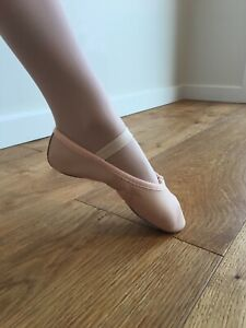 BALLET DANCE SHOES - FULL SOLE Ballet Pink Leather - CHILDS SIZES EU25.5 - 32.5