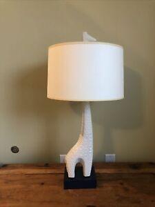 Large Jonathan Adler Menagerie Giraffe Sculpture Lamp White Ceramic Figure MCM