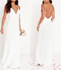 Missguided Bridal Cami Maxi Dress White UK 6 US 2 EUR 34 RRP £115 (camg81)
