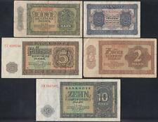 8x DDR: 50 Pfennig bis 100 Mark 1948 - Deutsche Notenbank