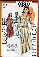 1980s Simplicity Sewing Pattern 9389 Designer Couturier Reuben Thomas Dress Sz10