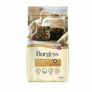 Burgess Adult Cat Food British Chicken and Duck 1.5kg Protein High Kibble