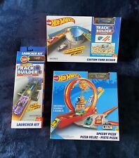 Lot of 3 Hot Wheels Race Track & Builder System