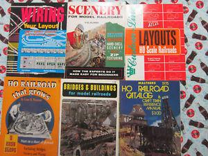 Lot of 6 Vintage HO  MODEL RAILROAD BOOKS WIRING, SCENERY, BRIDGES, ETC.