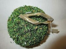 "2 Artificial 4"" Ball ~Christmas Greenery Topiary ~Outdoor /Indoor ~Set of 2 ~NEW"