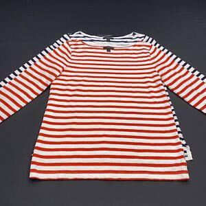 J Crew Women's Striped Knit Long Sleeve Tops White Size S - Lot 2