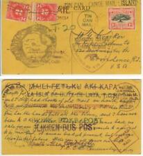 Aug 1944 Tonga WWII Tin Can Mail pc from Quensell to Crocker - postage due