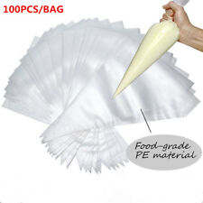 JPSOE 100pcs plastic pastry Piping Bag Disposable Icing Cake Decorating Bags
