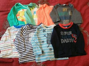 Bundle Of Baby Long Sleeved T-shirts 3-6 Months