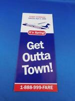 SHUTTLE AMERICA AIRLINE FLIGHT SCHEDULE SYSTEM TIMETABLE APRIL 2000 SPRING