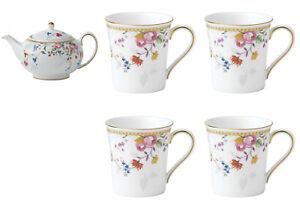 Wedgwood Prestige Rose Gold Teapot & Mug Set With 4 Mugs - RRP $1295.00- LAST 1!