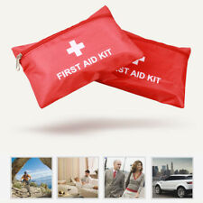 PVC Empty First Aid Kit Bag Red Camping Emergency Survival Pouch Bandage Drug