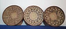 Set of 3 Binga Tonga baskets 11.4 Inch from Zimbabwe wall Decor