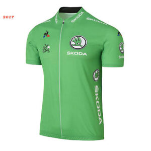 Green Cycling Jersey Short Sleeve Cycling Jersey For the 2017 Le Tour de France