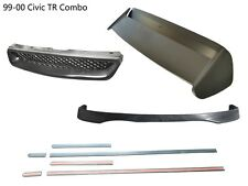 For 99-00 Honda Civic 3D Type-R Front lip+Front Grill+CTR Spoiler+THIN MOLDING