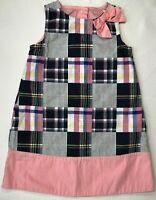 Gymboree Baby Girls 18-24 Months Pink and Blue Plaid Patchwork Easter Dress