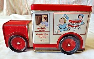 VINTAGE 1994 Campbell's Soup Tin Shaped as a Delivery Truck~UNIQUE AND AWESOME