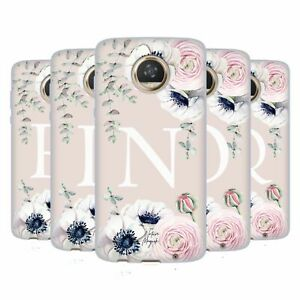 NATURE MAGICK FLORAL MONOGRAM PINK FLOWERS 2 GEL CASE FOR MOTOROLA PHONES